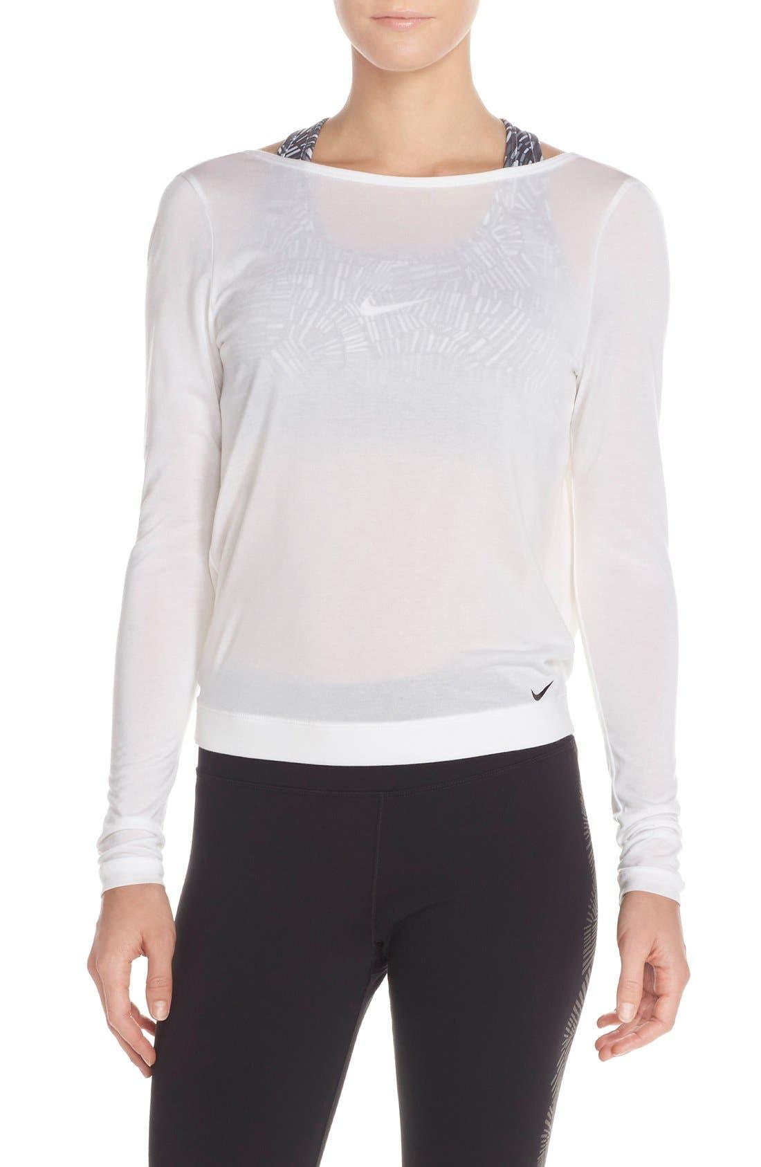 Alternate Image 2  - Nike Dri-FIT Drape Neck Top