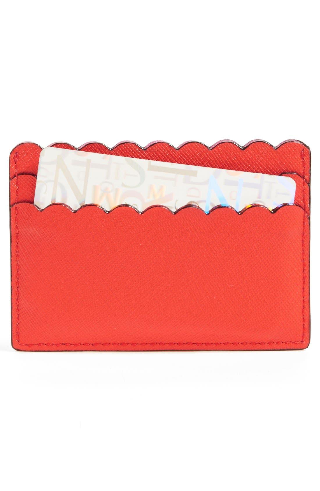 Alternate Image 2  - kate spade new york 'cape drive' saffiano leather card holder