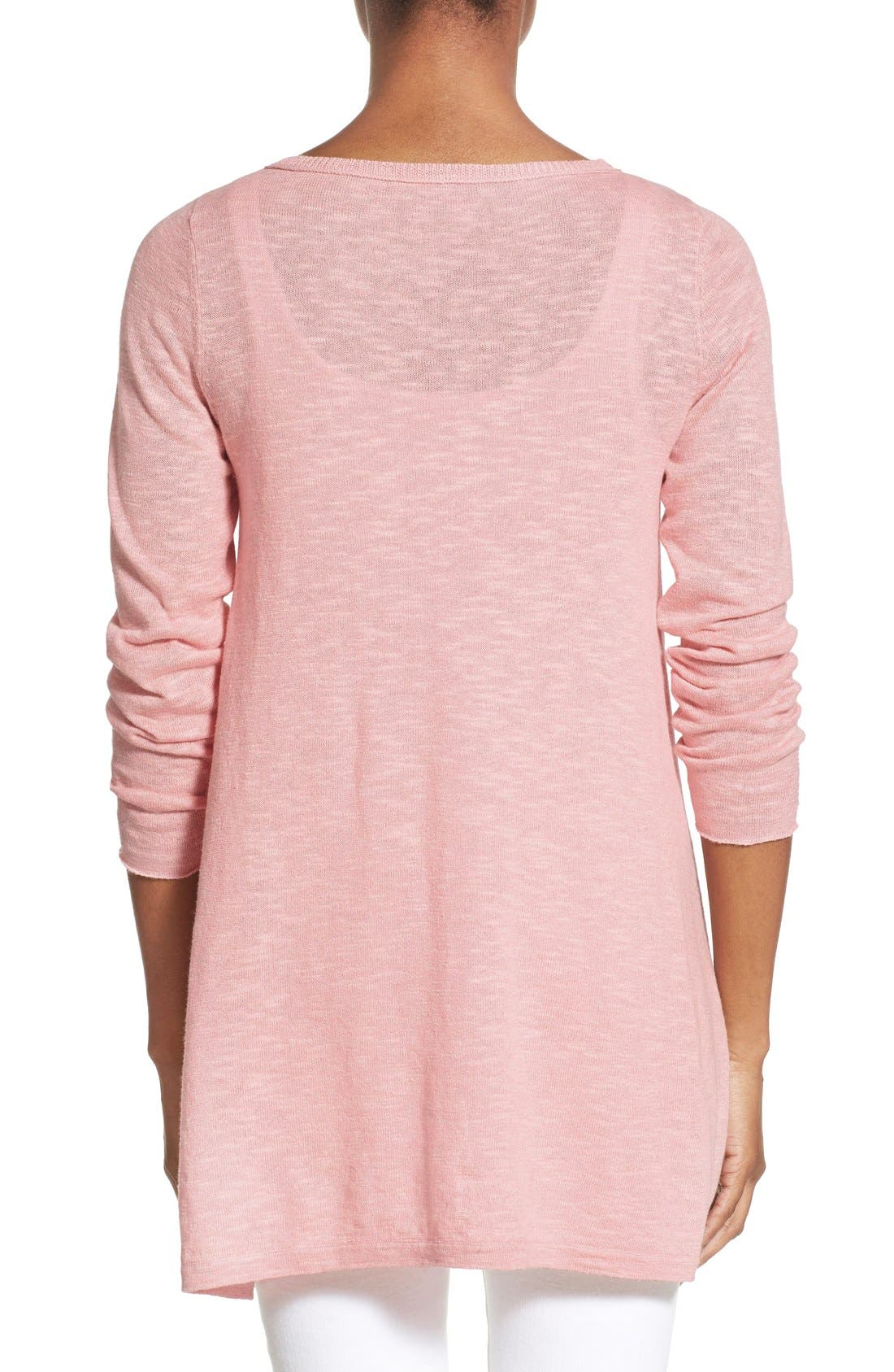Alternate Image 2  - Eileen Fisher Organic Linen & Cotton Bateau Neck Sweater (Regular & Petite)