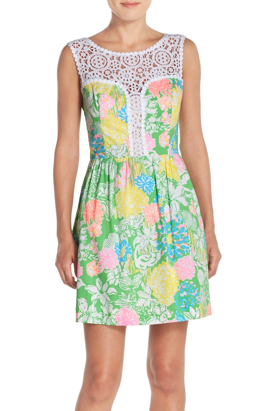 Alternate Image 1 Selected - Lilly Pulitzer® 'Raegan' Cotton Fit & Flare Dress