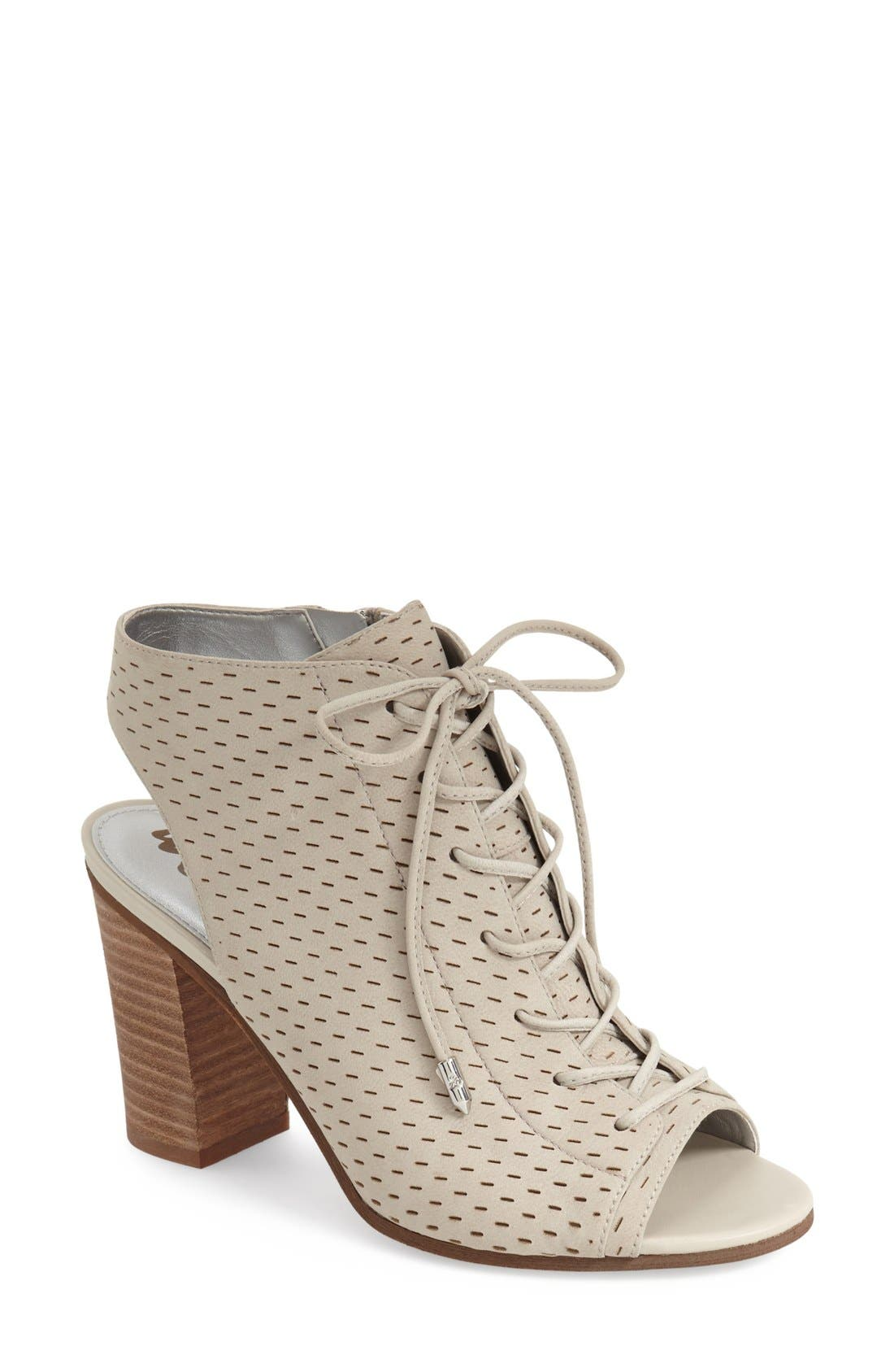 Alternate Image 1 Selected - Sam Edelman 'Ennette' Perforated Lace Up Bootie (Women)