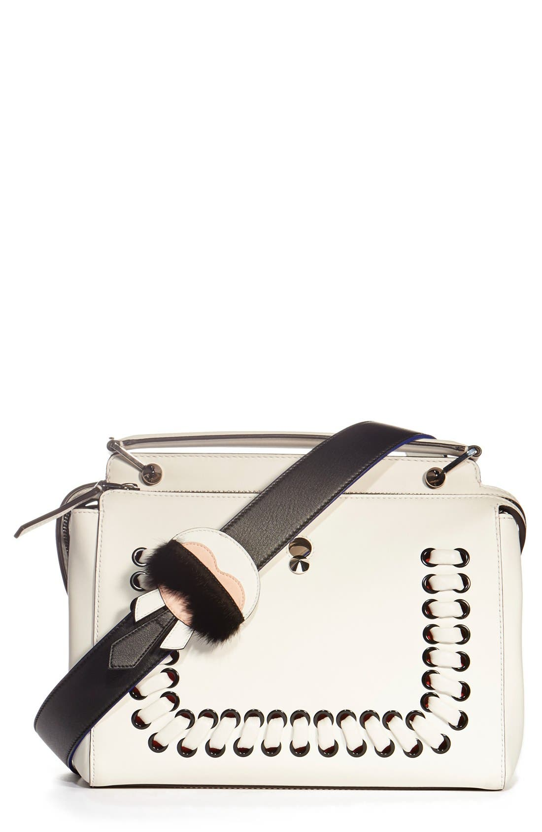 Alternate Image 2  - Fendi 'Strap You - Karlito' Leather & Genuine Mink Fur Bag Strap