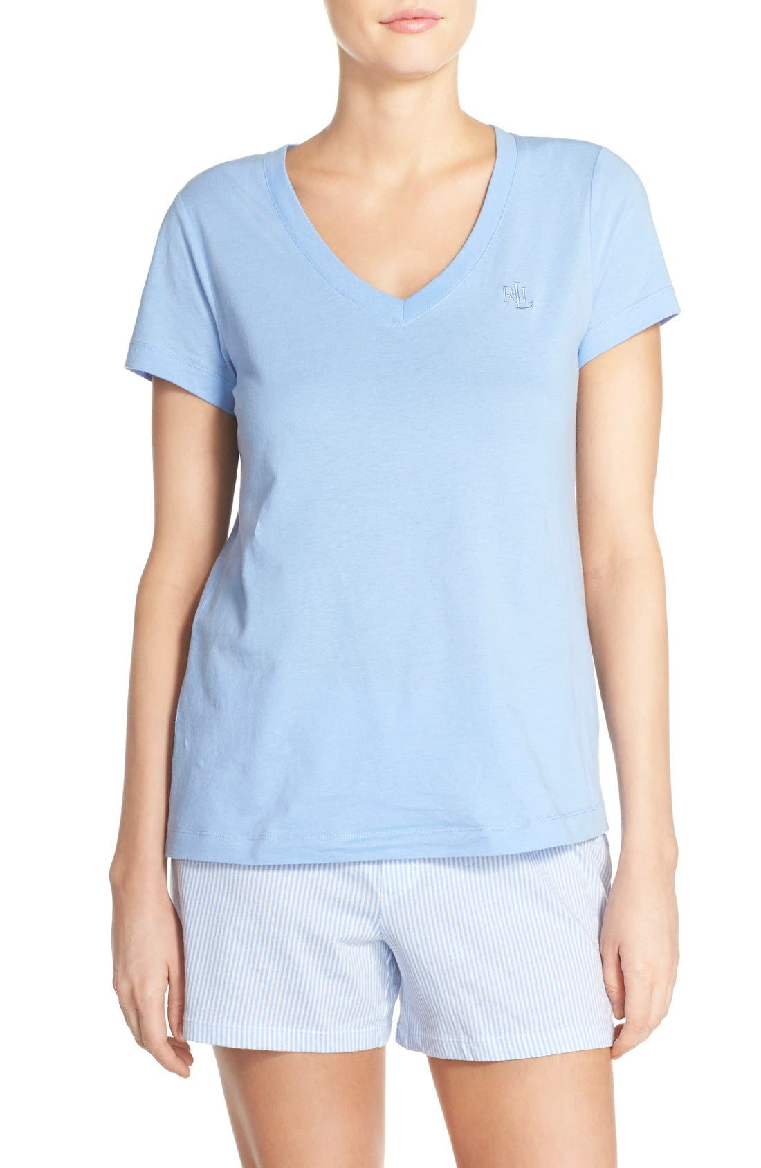 Main Image - Lauren by Ralph Lauren Sleepwear Short Sleeve Sleep Tee