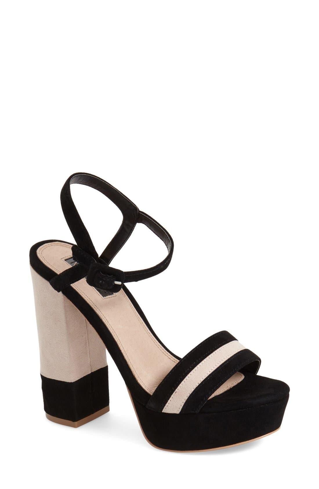 Alternate Image 1 Selected - Topshop 'Laker' Platform Sandal (Women)