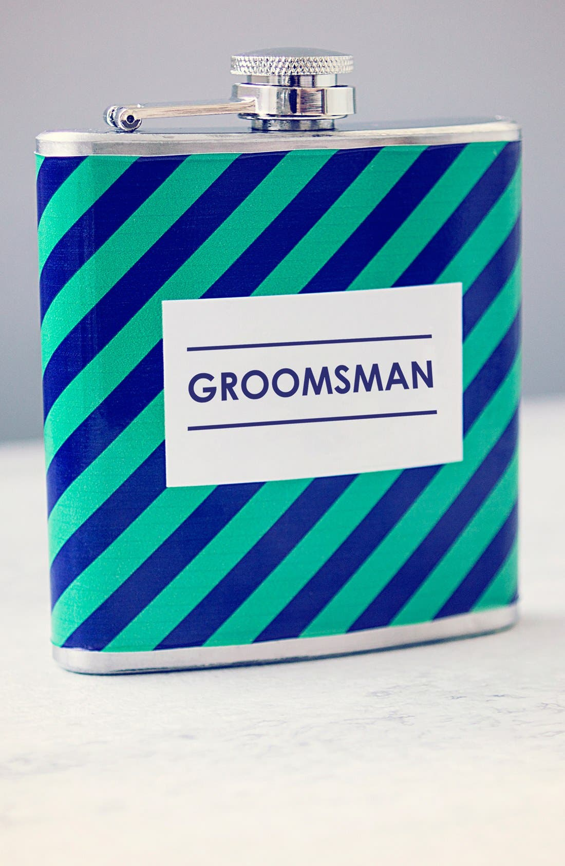 Cathy's Concepts 'Groomsman' Stripe Flask