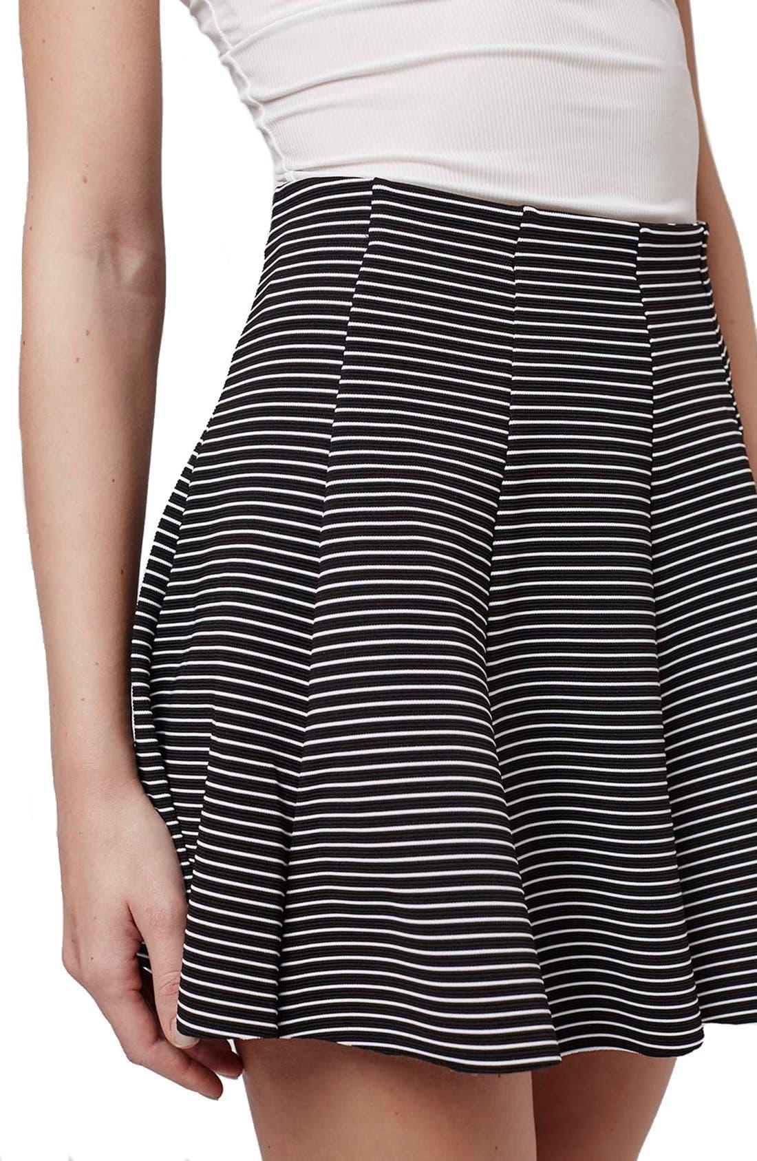 Alternate Image 5  - Topshop Stripe Flippy Skirt (Petite)