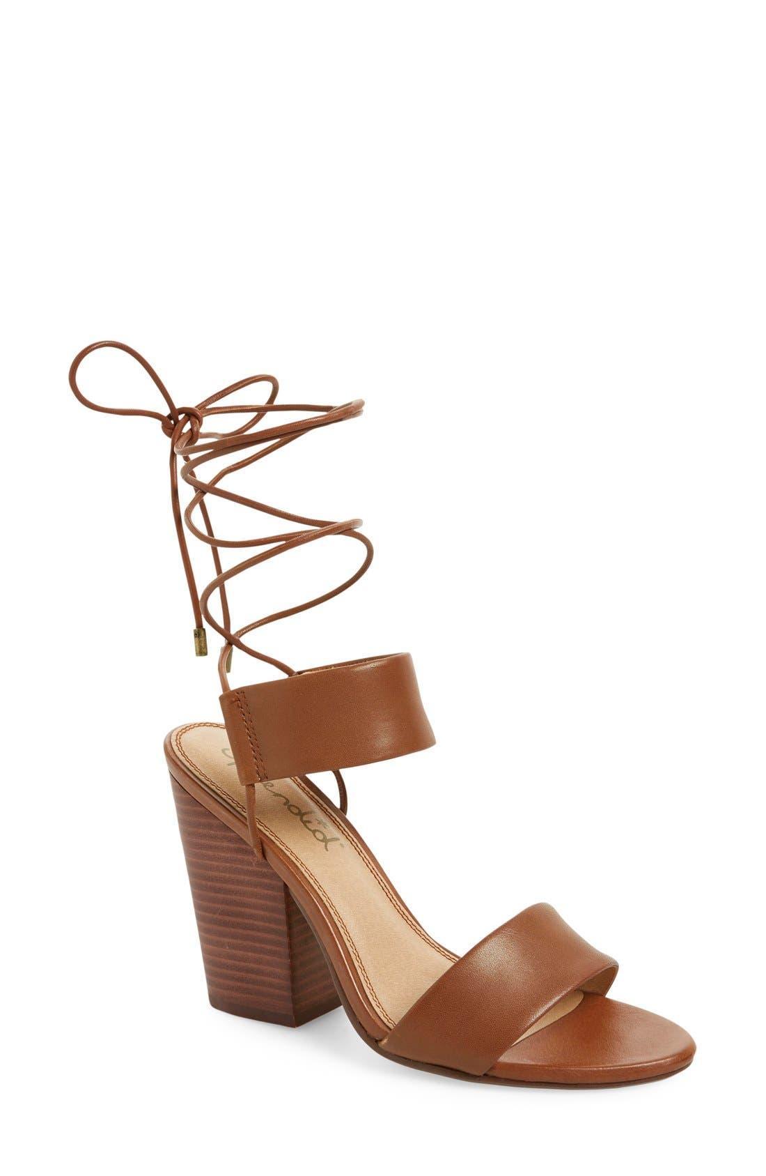 Alternate Image 1 Selected - Splendid 'Kenya' Wraparound Lace Sandal (Women)