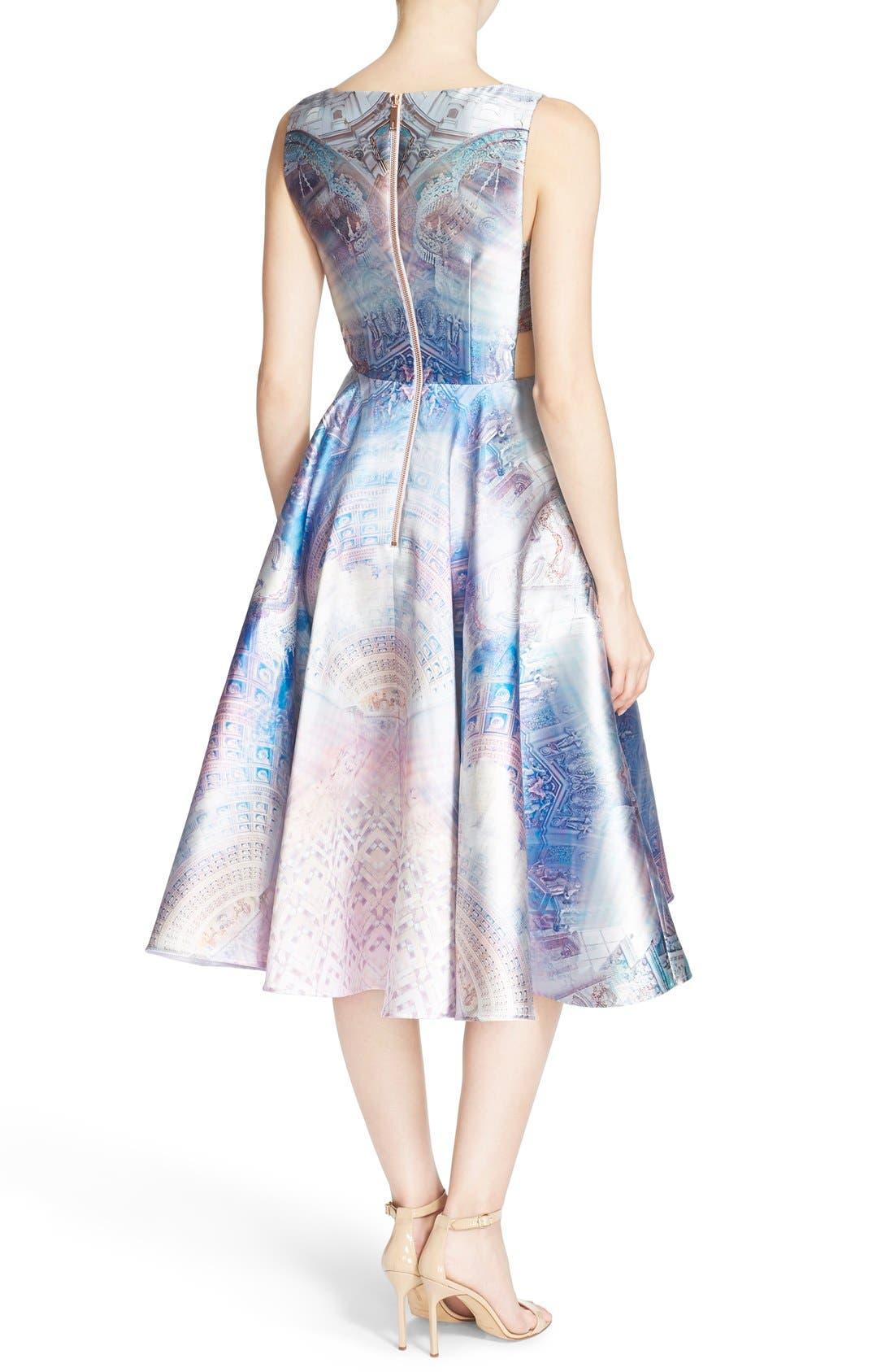 Alternate Image 2  - Ted Baker London 'Larin' Print Fit & Flare Dress