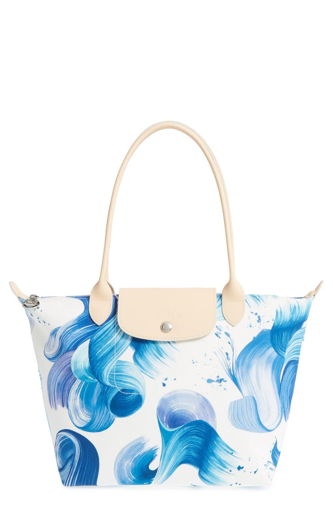 Main Image - Longchamp 'Medium Splash' Print Canvas Tote