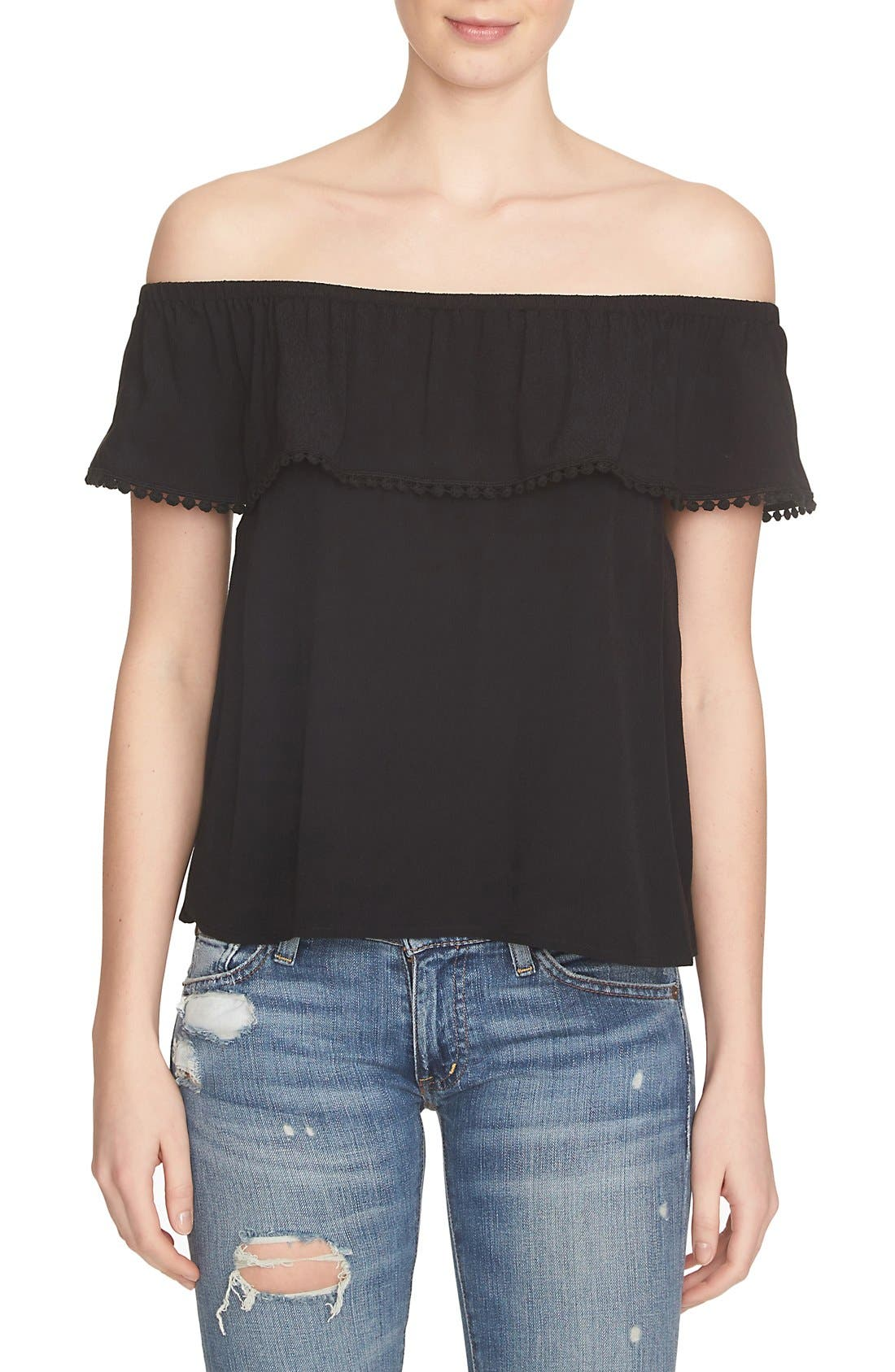 Main Image - 1.STATE Ruffle Off the Shoulder Top
