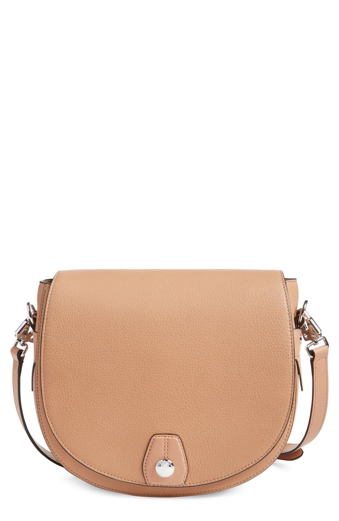Main Image - rag & bone 'Flight' Leather Crossbody Saddle Bag