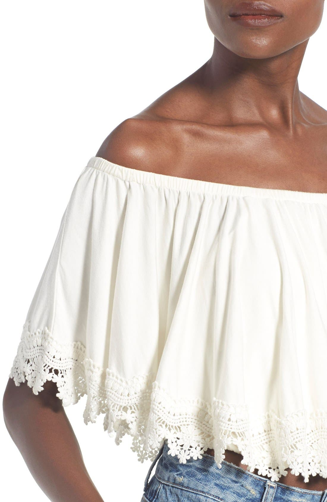 Alternate Image 4  - Lovers + Friends 'Love Me' Off the Shoulder Top