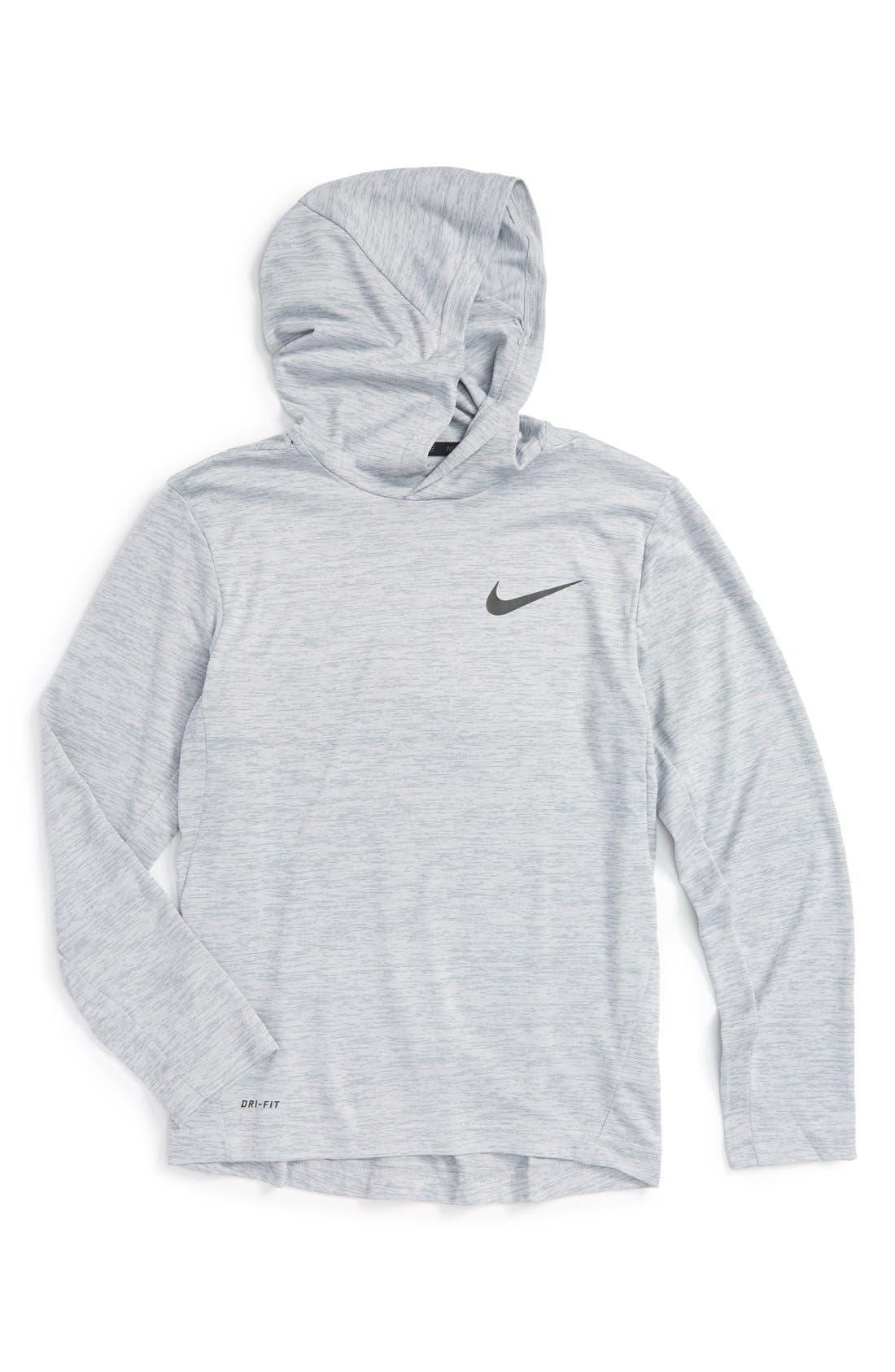 Alternate Image 1 Selected - Nike Hooded Long Sleeve Dri-FIT Training Top (Little Boys & Big Boys)