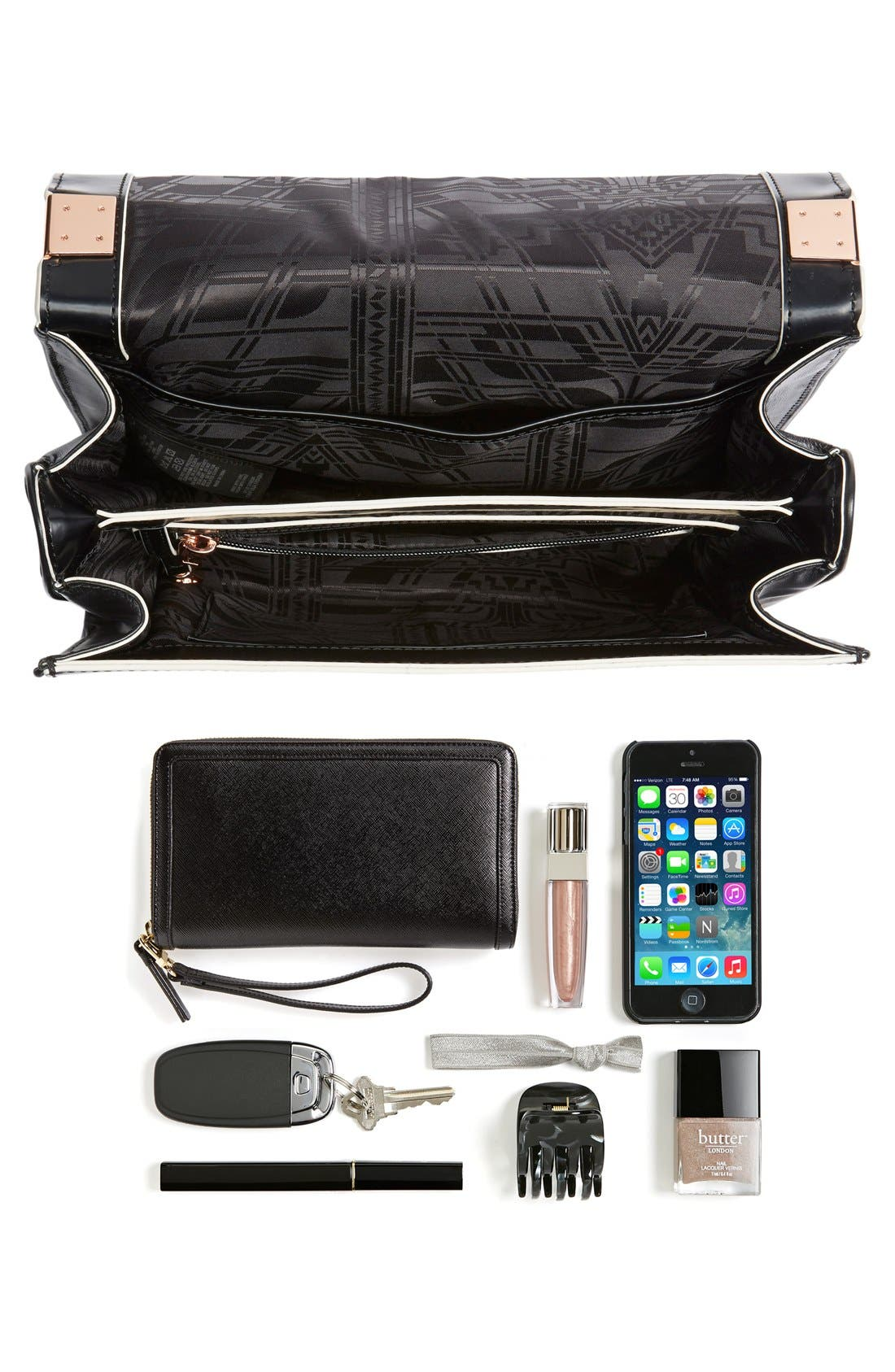 Alternate Image 7  - Ted Baker London Leather Shoulder Bag