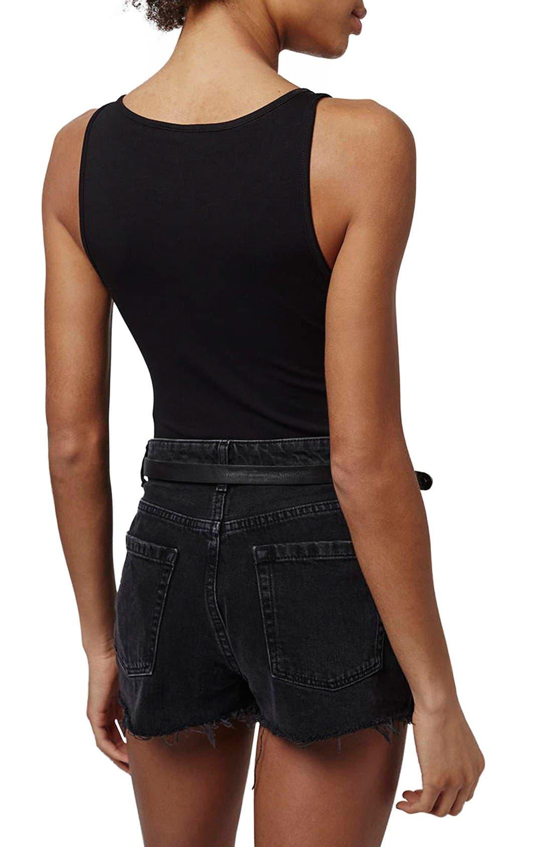 Alternate Image 3  - Topshop Elastic Strap V-Neck Bodysuit (Regular & Petite)