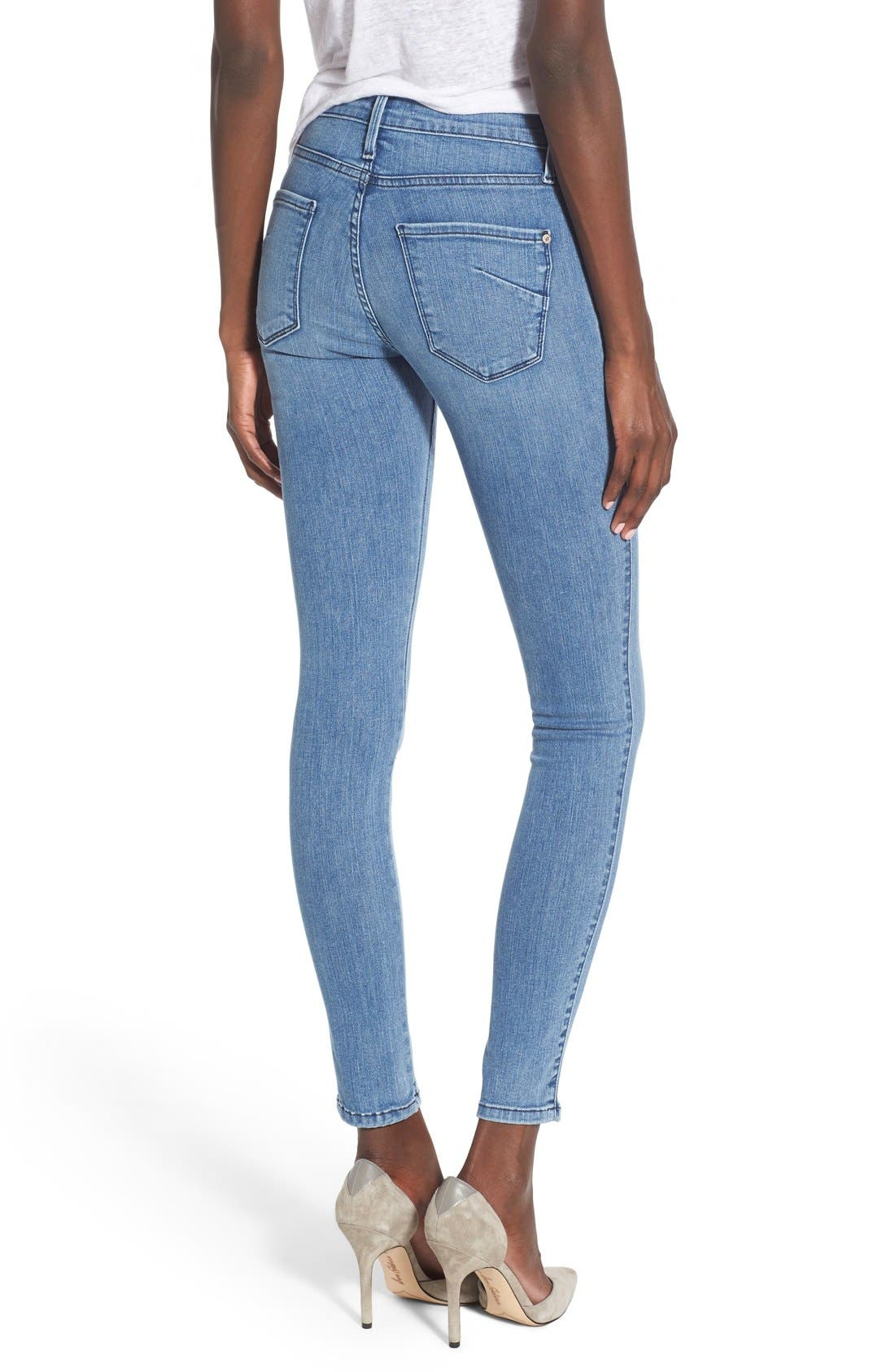 Alternate Image 2  - James Jeans Double Front Zip Denim Leggings (Splash)