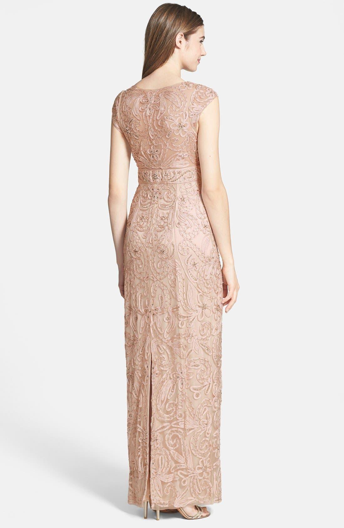 Alternate Image 2  - Sue Wong Embellished Illusion Back Gown