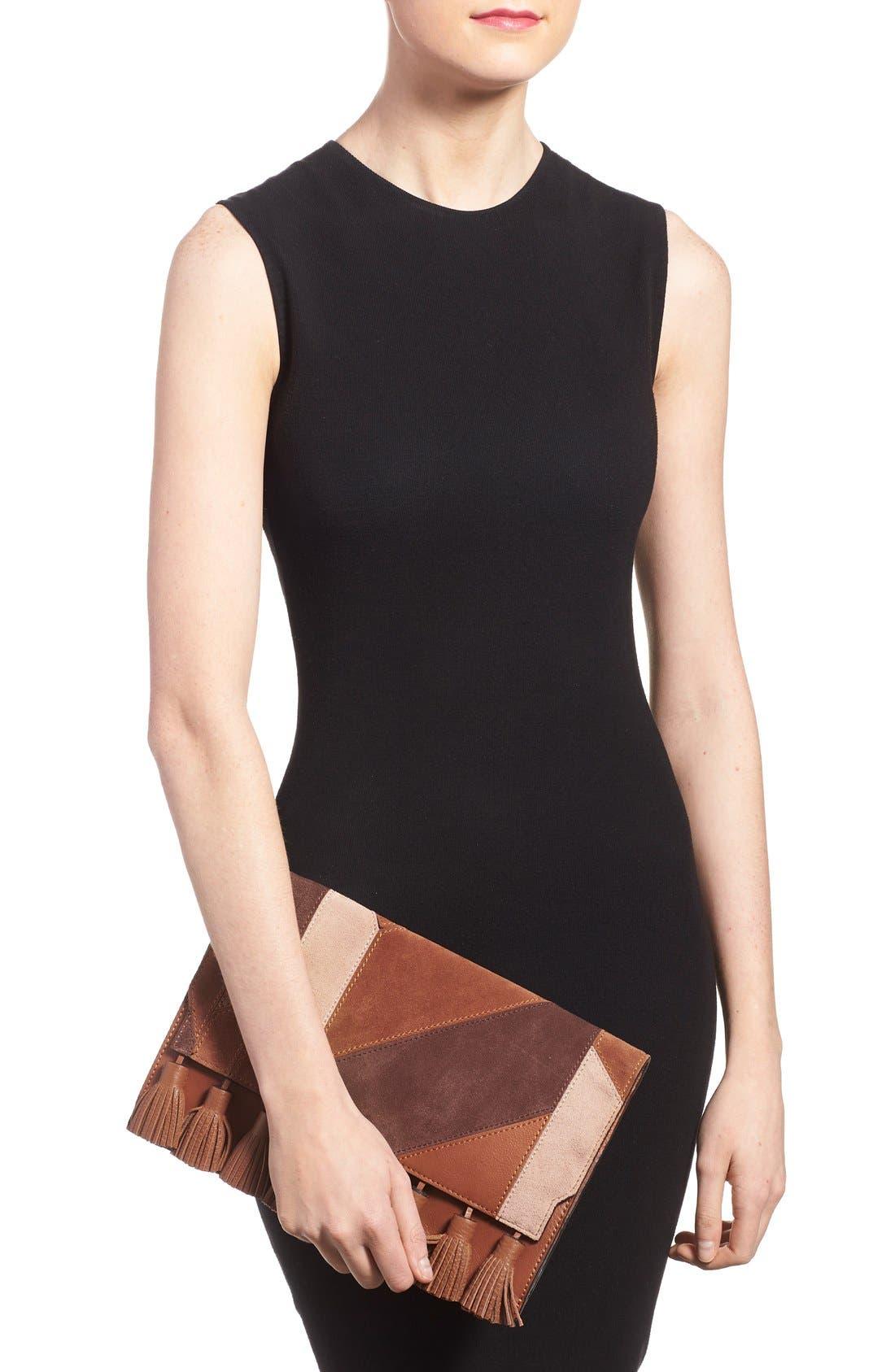 Alternate Image 2  - Rebecca Minkoff 'Sofia' Tassel Patchwork Leather Clutch
