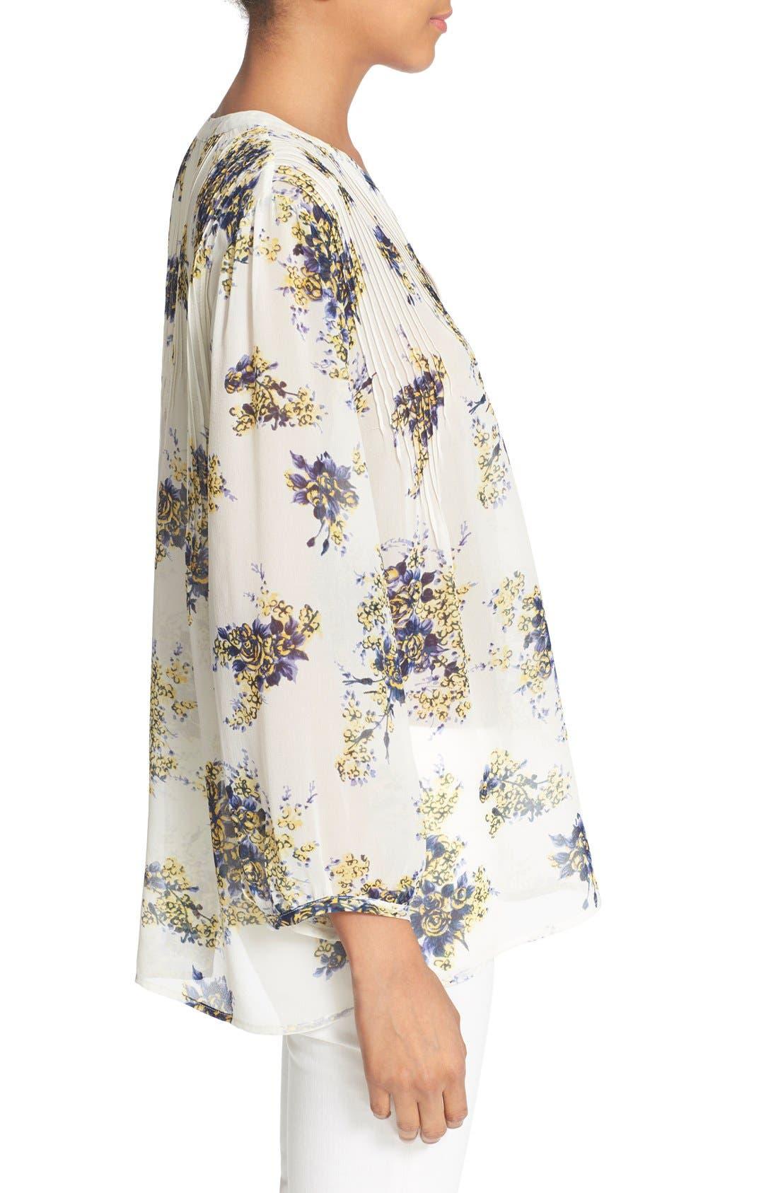 Alternate Image 3  - Joie 'Laurel B' Floral Print Silk Top
