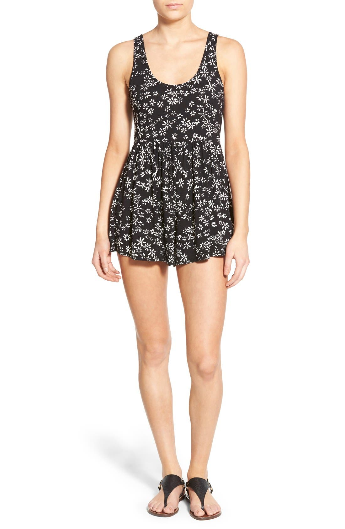 Main Image - Volcom 'Guilty One' Floral Print Sleeveless Romper