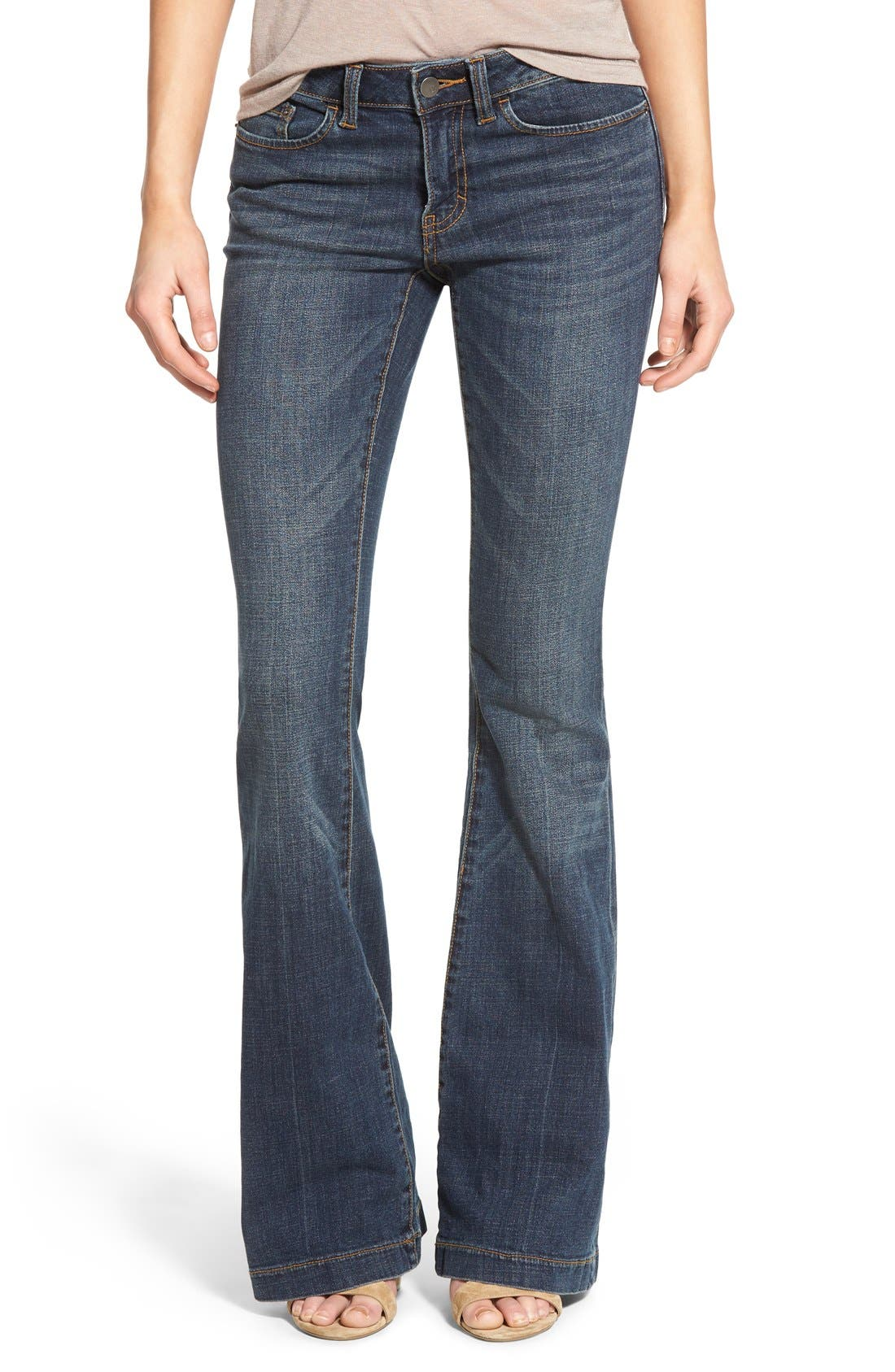 Main Image - BP. Mid Rise Flare Jeans (Dark Bloom)