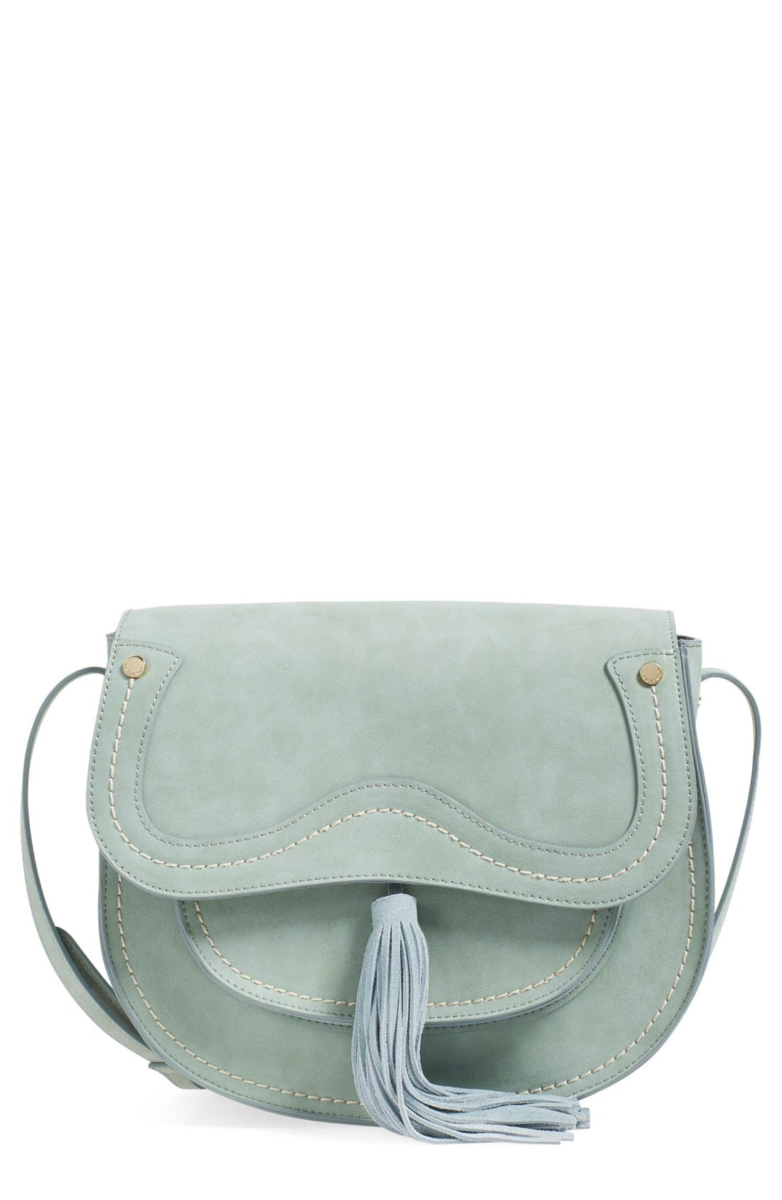Main Image - Steven by Steve Madden Faux Leather Saddle Bag