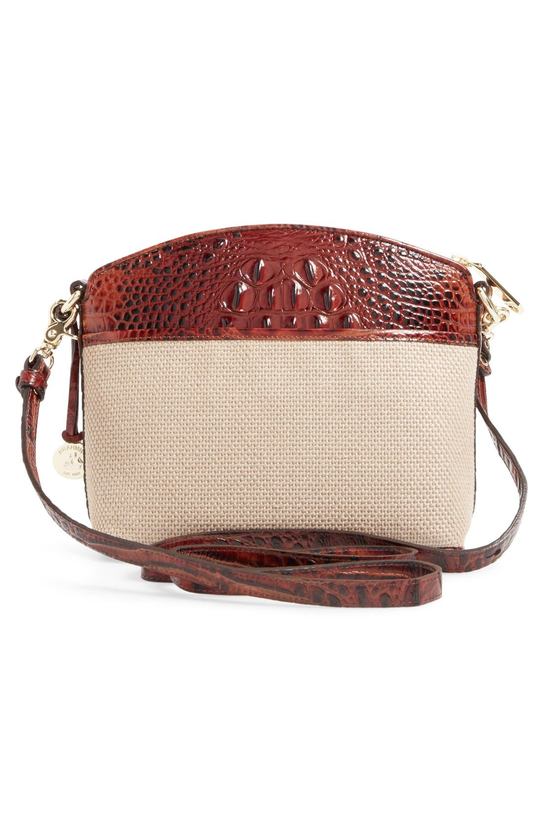 Alternate Image 3  - Brahmin 'Mini Duxbury' Woven Crossbody Bag