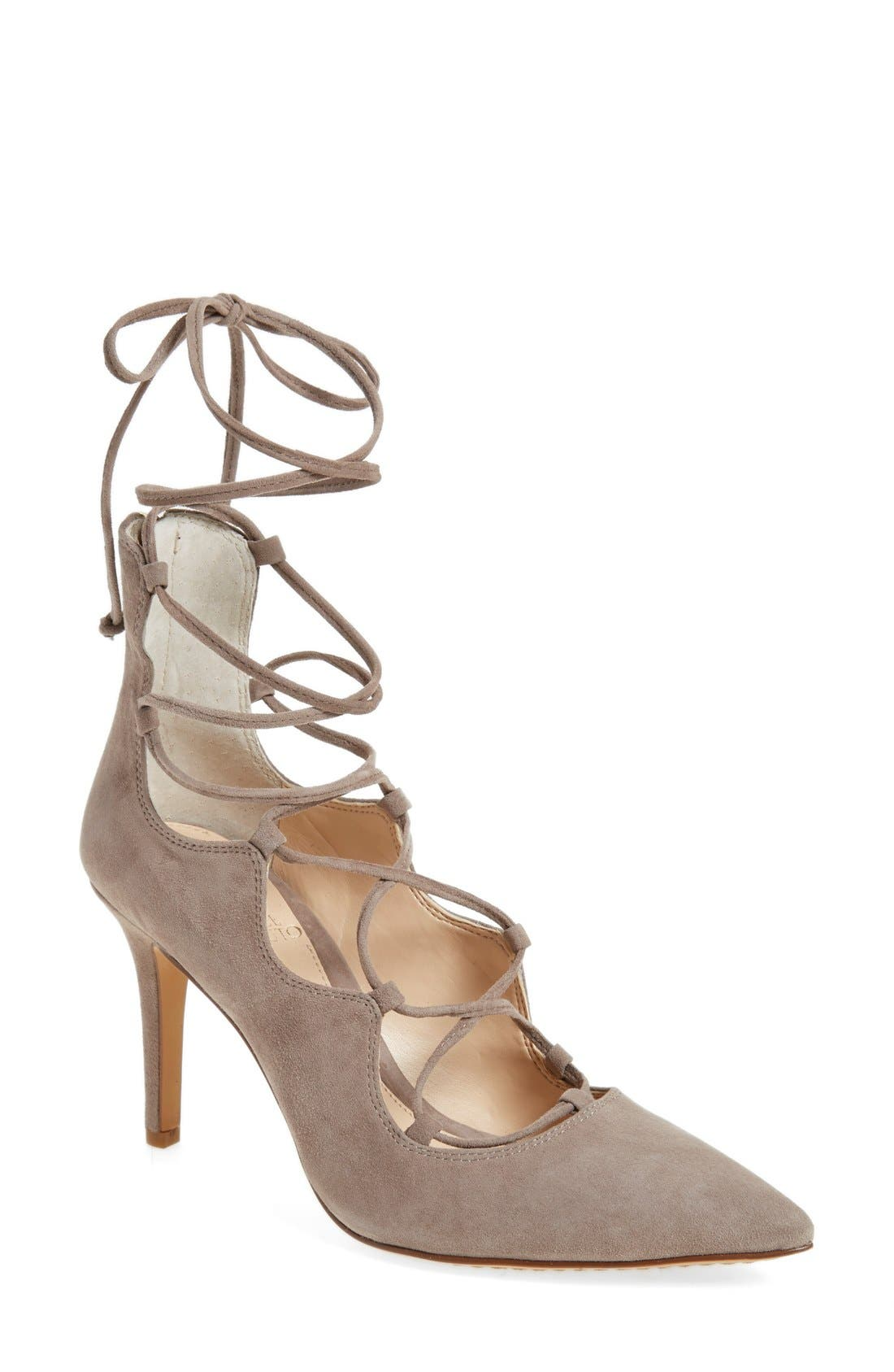 Alternate Image 1 Selected - Vince Camuto 'Barsha' Lace-up Pump (Women) (Nordstrom Exclusive)