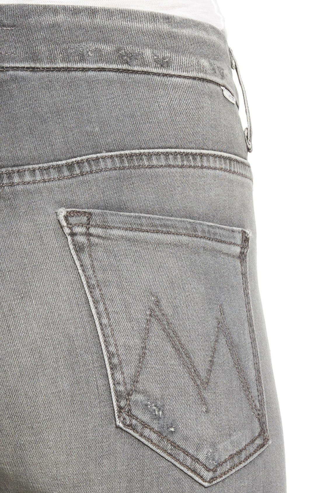 Alternate Image 4  - MOTHER 'The Looker' High Rise Skinny Jeans (To the Moon and Back Again)