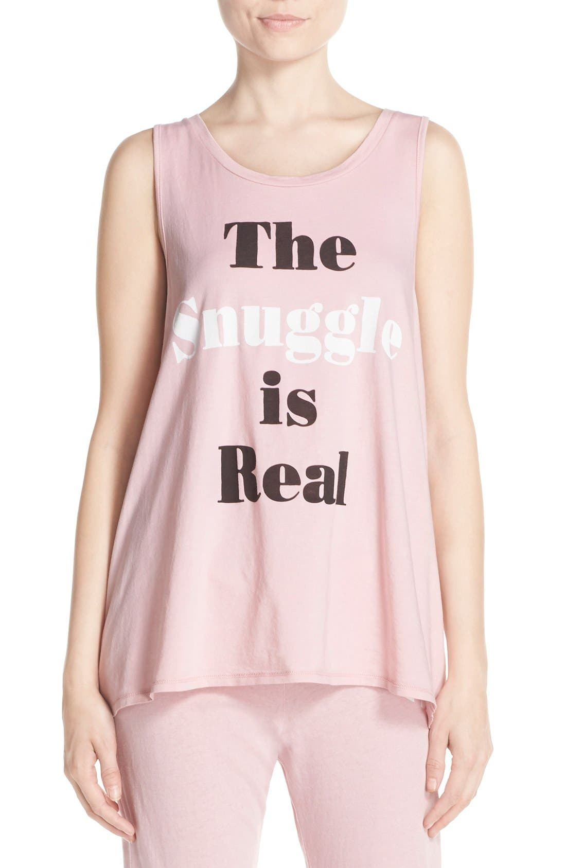 Main Image - Junk Food 'The Snuggle is Real' Graphic Tank