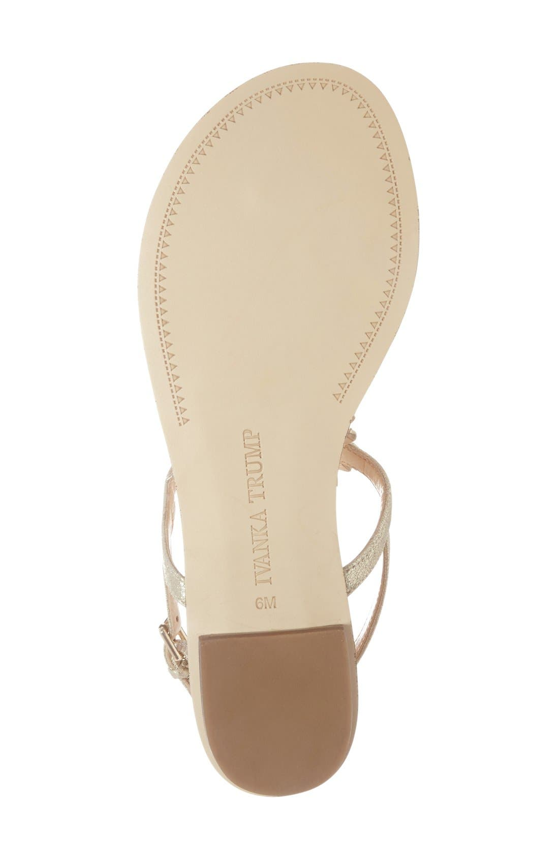 Alternate Image 4  - Ivanka Trump 'Faron' Bead Embellished Flat Sandal (Women)
