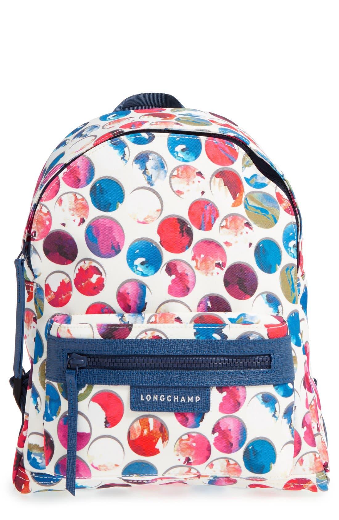 Main Image - Longchamp 'Small Le Pliage - Neo Fantaisie' Canvas Backpack