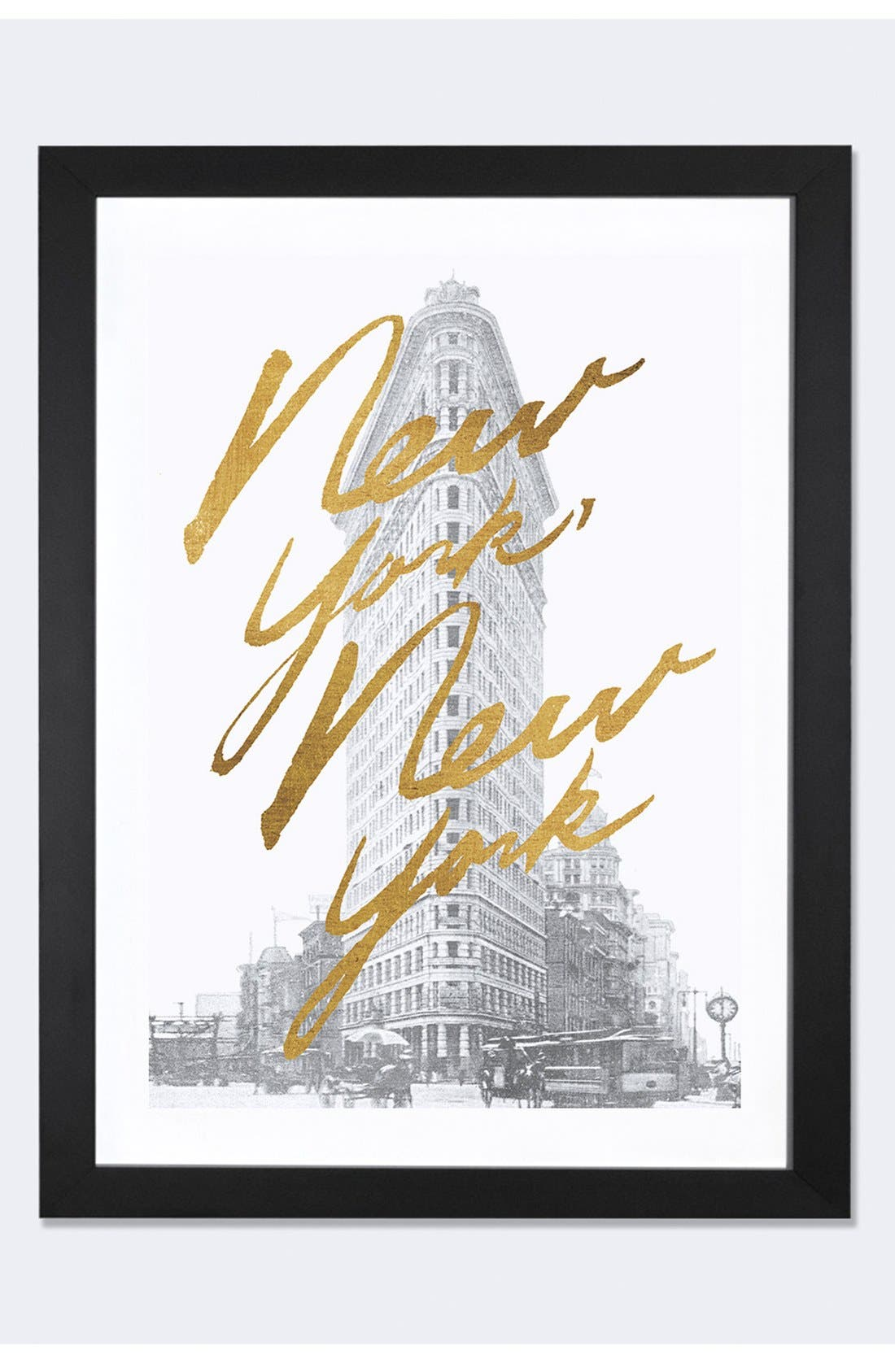 ICANVAS 'Gilded New York' Framed Fine Art Print