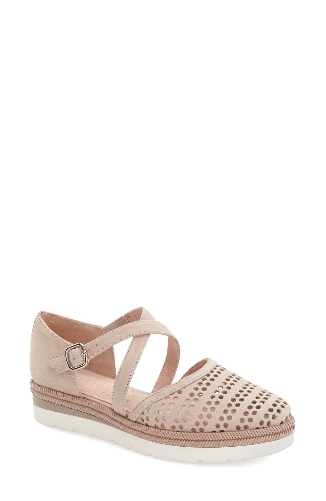 HISPANITAS 'Leesa' Perforated Espadrille Platform Flat