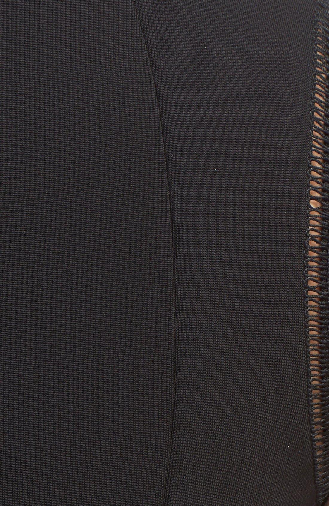 Alternate Image 3  - Victoria Beckham Rib Knit Fit & Flare Dress