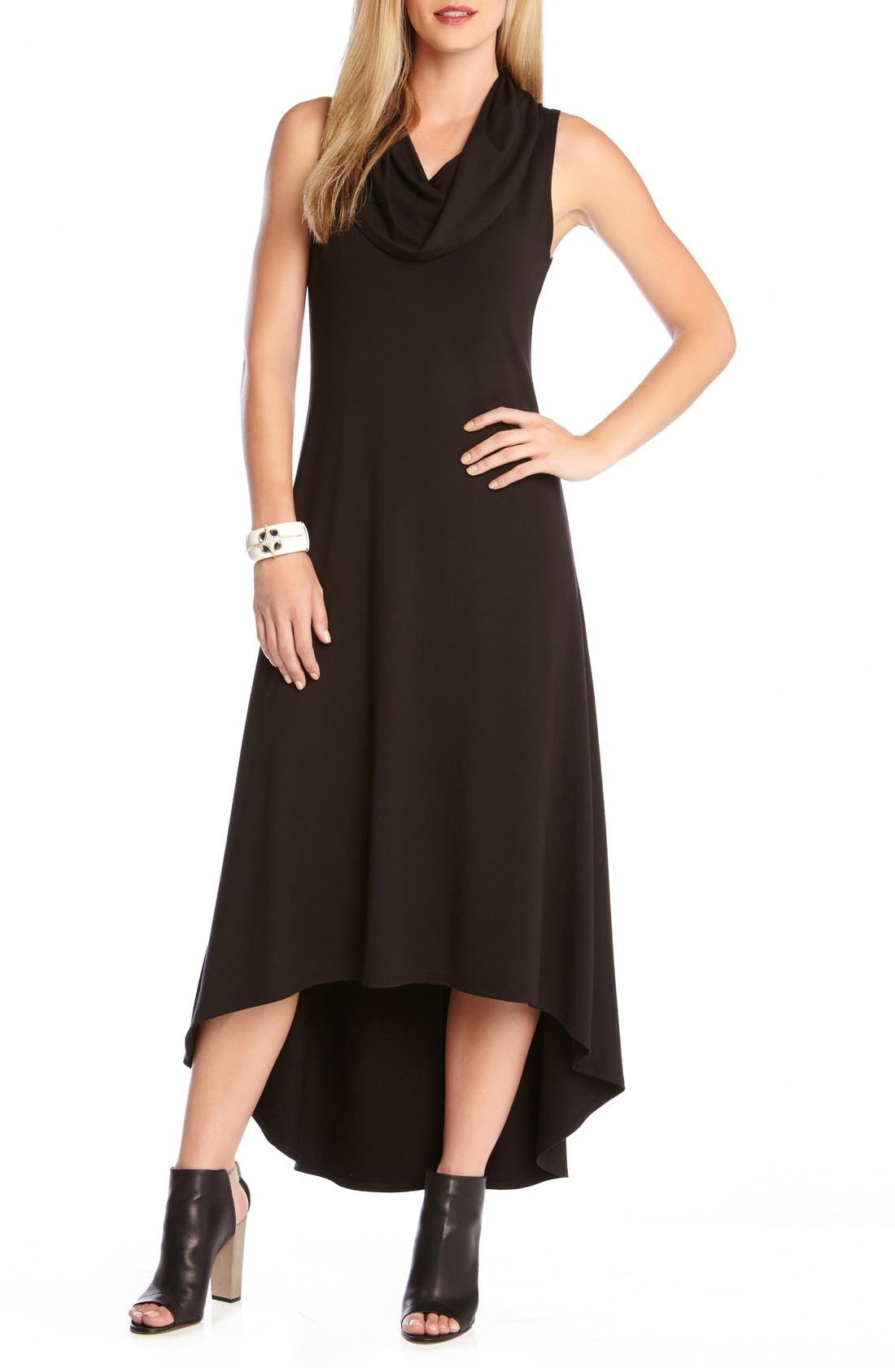Karen Kane 'Katie' Cowl Neck High/Low Maxi Dress