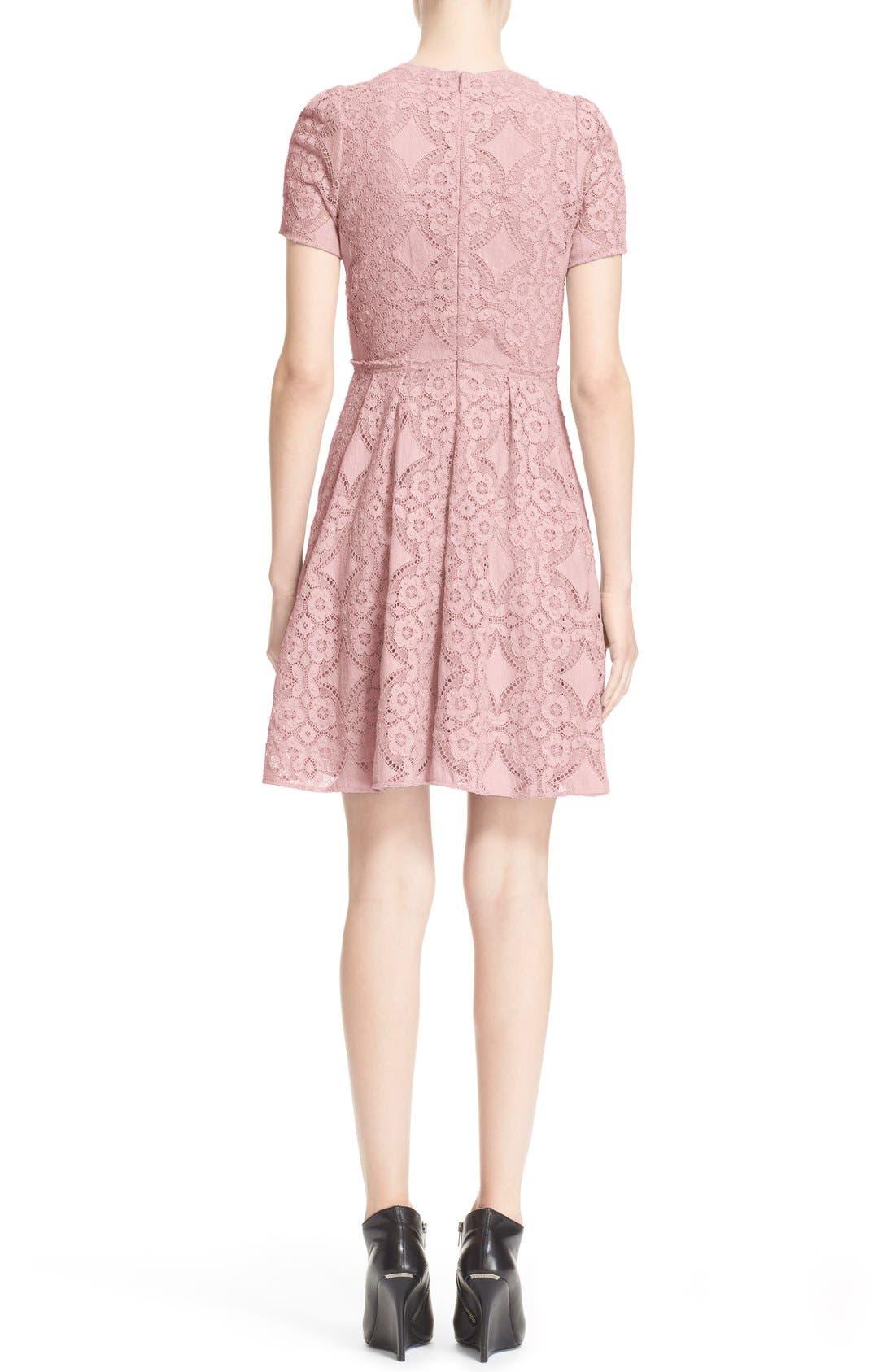 Alternate Image 2  - Burberry London 'Velma' Short Sleeve Lace Fit & Flare Dress