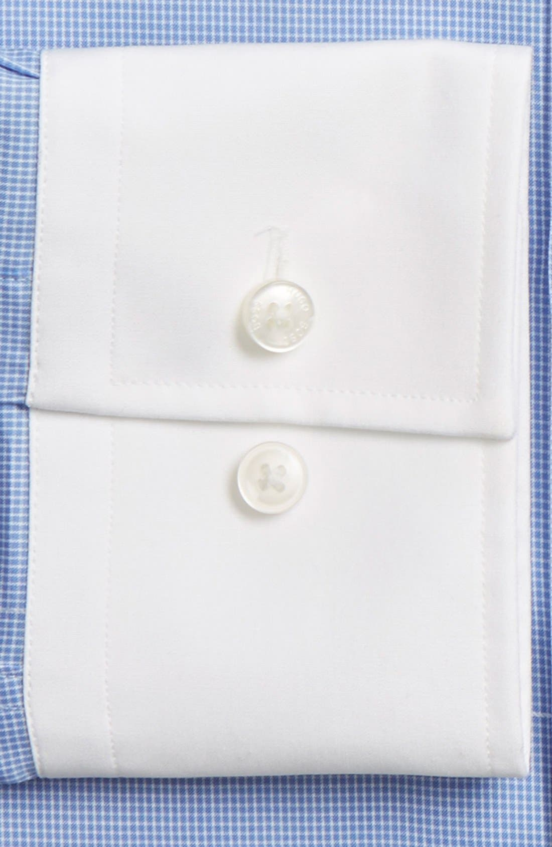 Alternate Image 4  - BOSS WW Slim Fit Easy Iron Check Dress Shirt