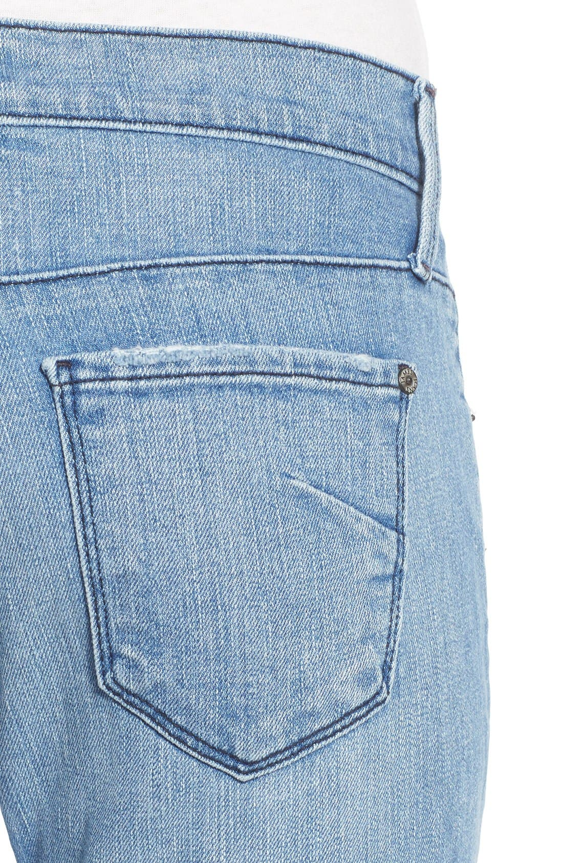Alternate Image 4  - James Jeans Distressed Slim Boyfriend Jeans (Joy Ride)