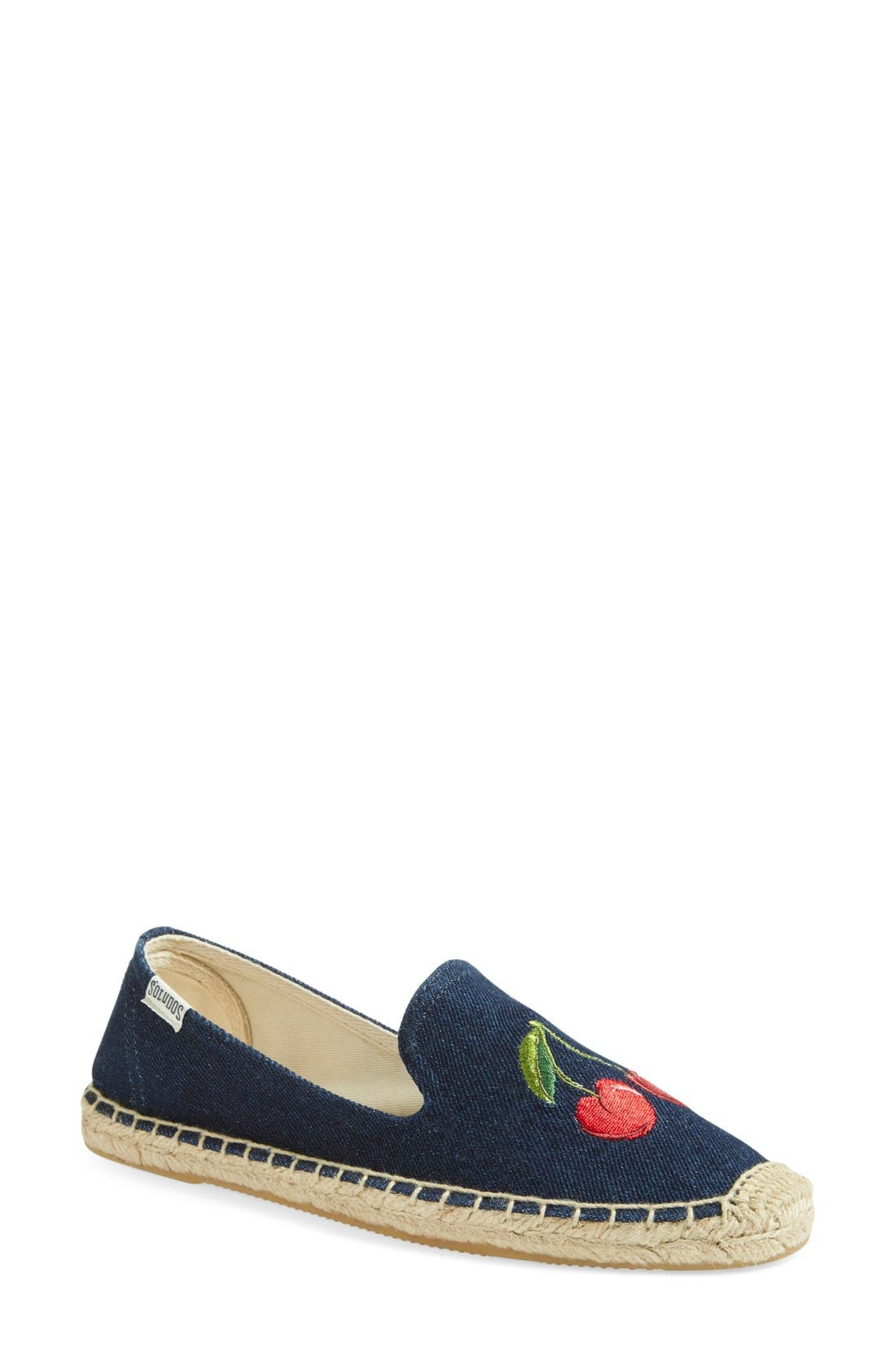 Alternate Image 2  - Soludos 'Cherries' Embroidered Espadrille Slip-On (Women)