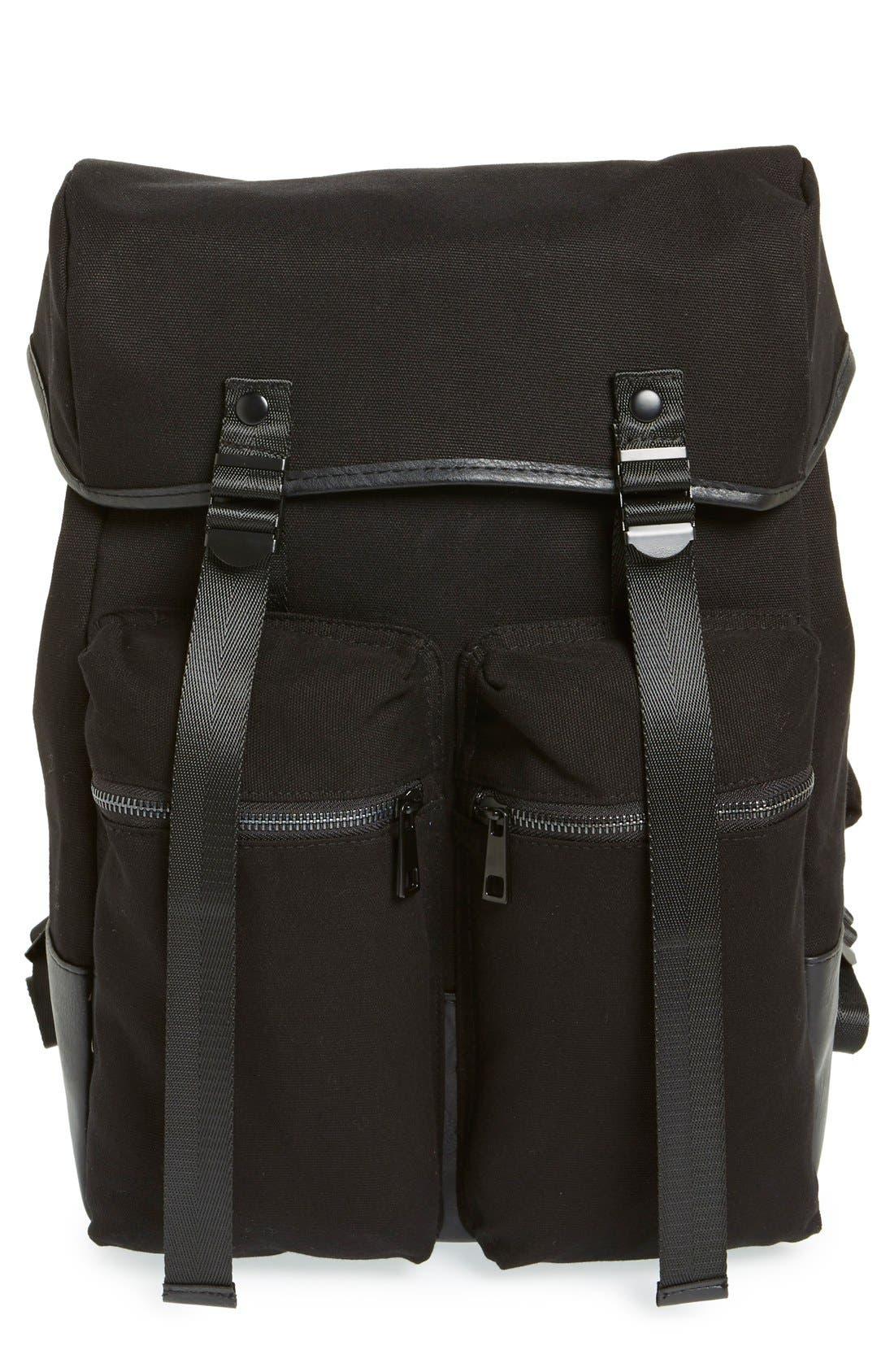 Main Image - Topman Canvas Backpack