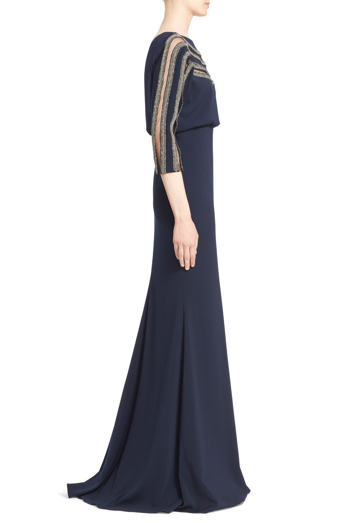 Alternate Image 4  - Badgley Mischka Couture Embellished Blouson Column Gown (Nordstrom Exclusive Color)