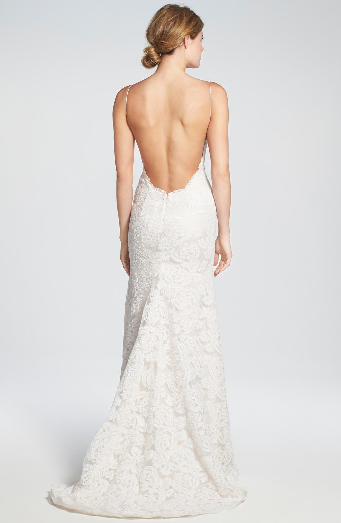 Alternate Image 2  - Katie May 'Lanai' Convertible Cap Sleeve Lace Low Back Gown