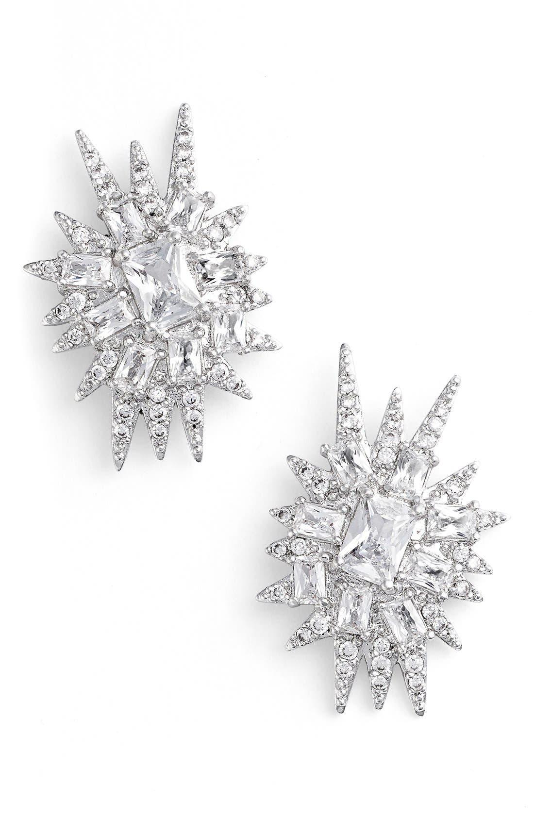 CZ by Kenneth Jay Lane 'Explosion' Cubic Zirconia Stud Earrings