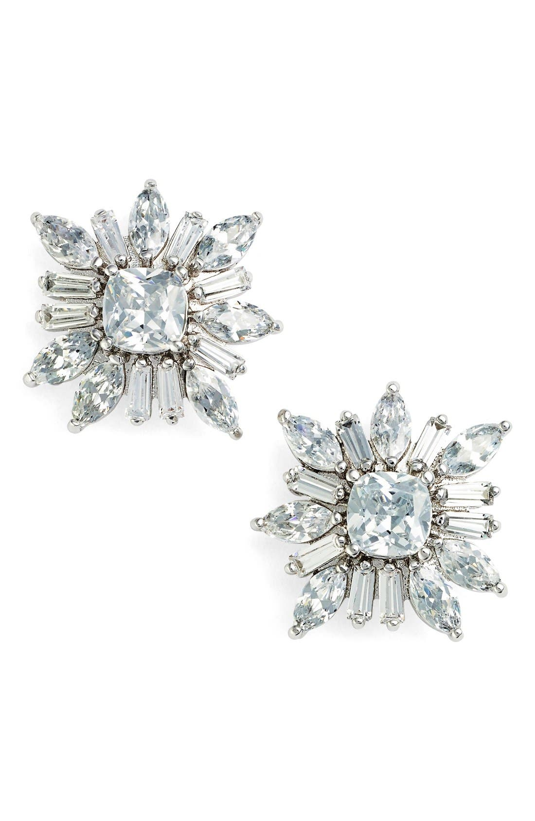 CZ by Kenneth Jay Lane 'Starburst' Cubic Zirconia Stud Earrings