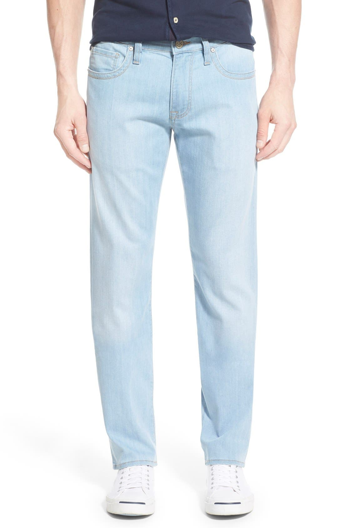 34 Heritage Courage Straight Leg Jeans (Bleach Hawaii) (Regular & Tall)