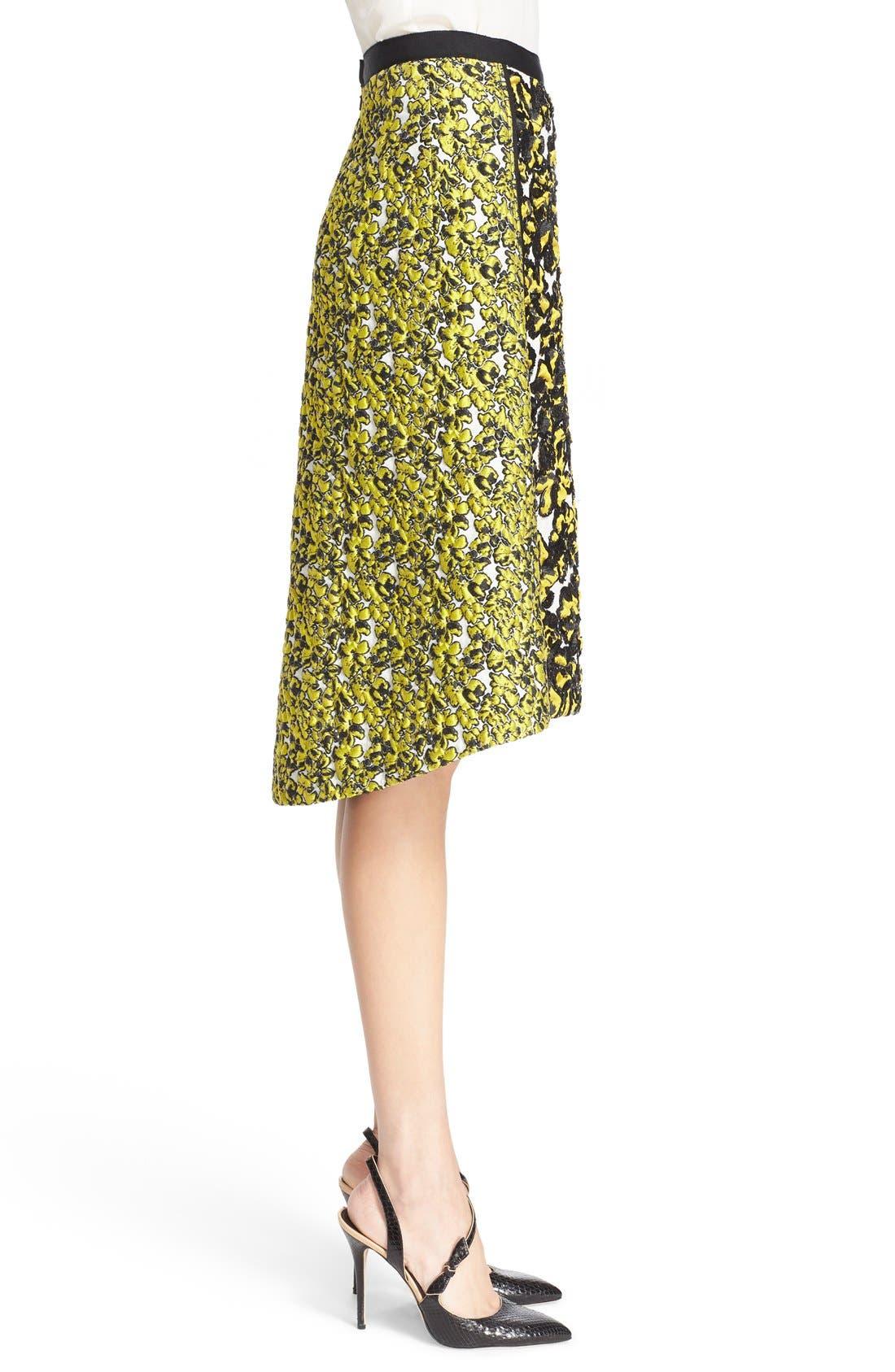 Alternate Image 4  - Oscar de la Renta Embellished Floral Jacquard Skirt