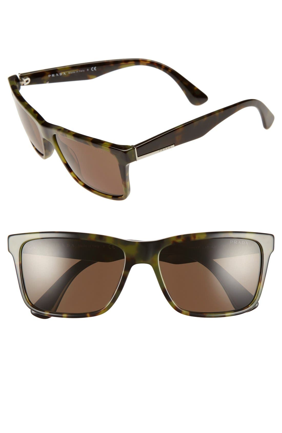 Prada 59mm Square Sunglasses