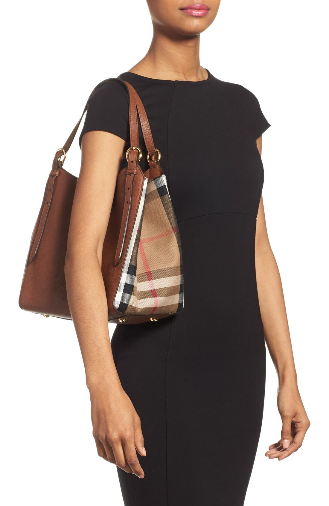 Alternate Image 2  - Burberry 'Canterbury' House Check & Leather Tote