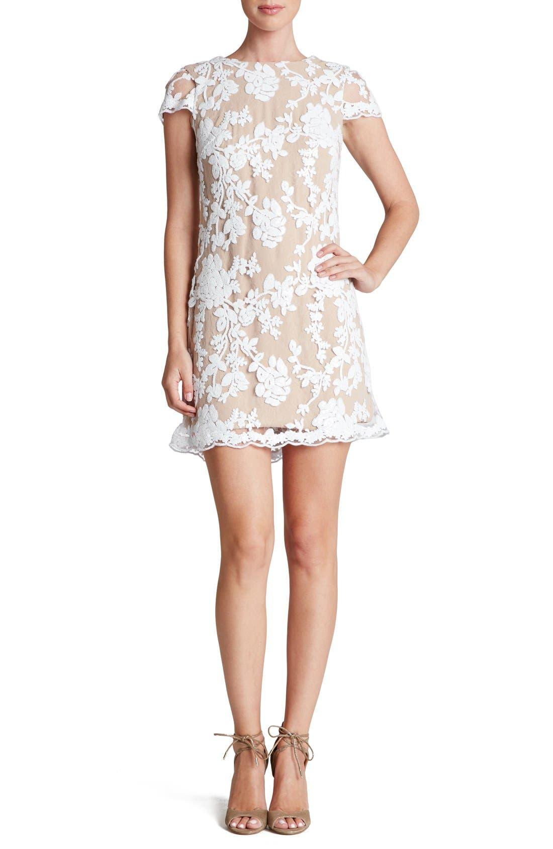 Alternate Image 1 Selected - Dress the Population 'Hope' Lace Sheath Dress
